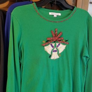 CHRISTmas Bells Long Sleeve Tee Medium